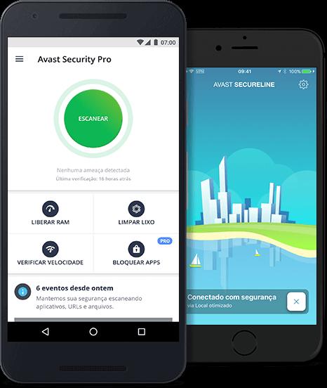 Proteção Avast para dispositivos móveis