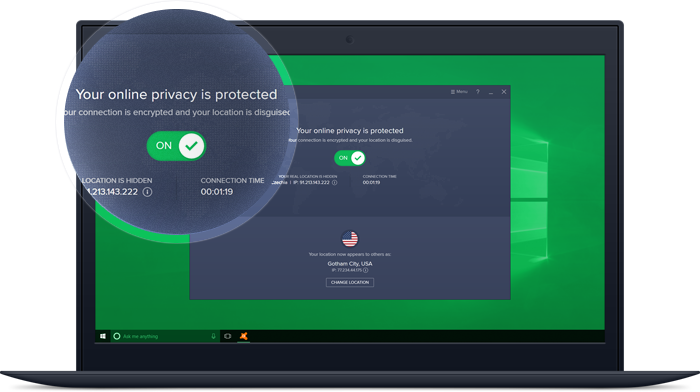 Windows VPN Connected