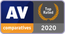 2020: 'Top Rated Product'<br /> by AV Comparatives