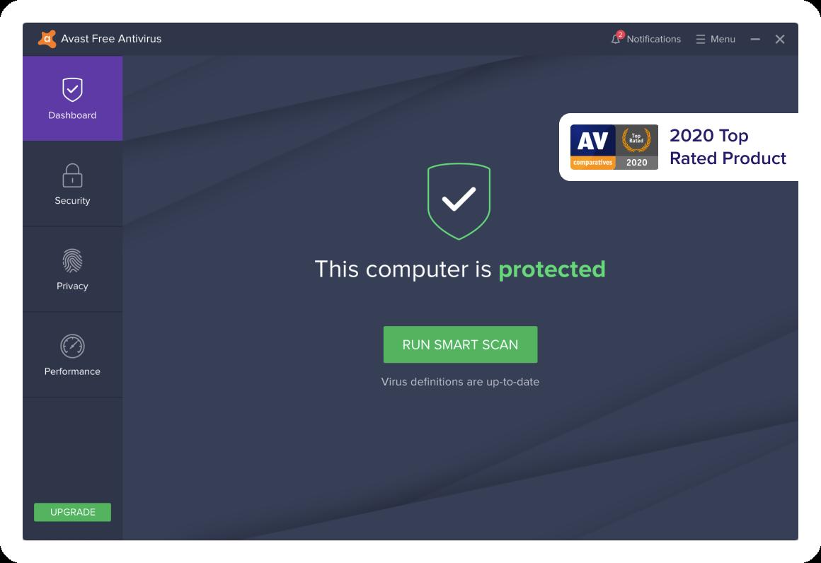 Gratis slanke en bekroonde virusbescherming op basis van de cloud