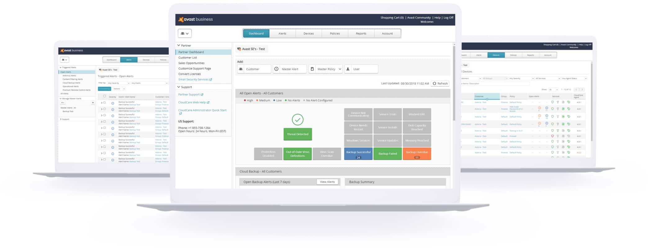 Una plataforma de seguridad moderna debe ofrecer una interfaz de usuario intuitiva.