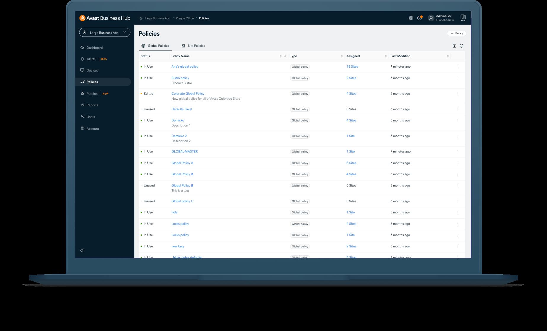 Windows Antivirus - Policies
