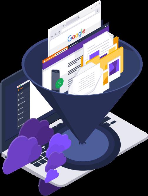 Функция фильтрации содержимого в CloudCare