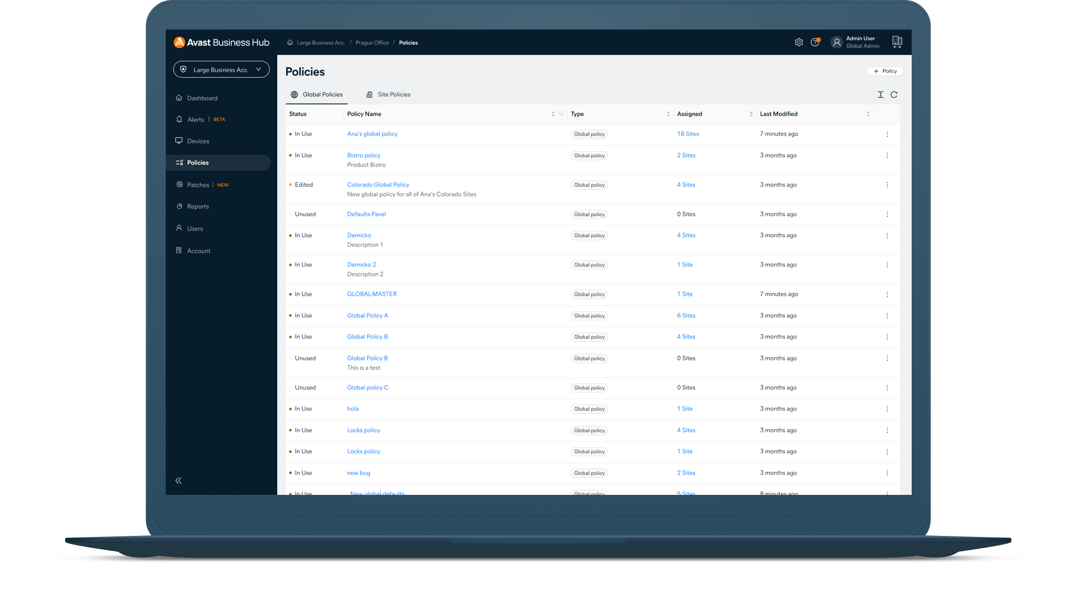 Apply commands across devices like scans, restarts, and more. Run commands automatically based on policy settings.