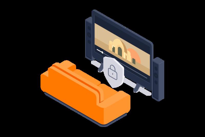 Android TV चलाने वाले स्मार्ट TV पर सुरक्षित ढंग से स्ट्रीम करें