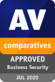 2020 : Certifié « Approved Business Product »<br/> par AV-Comparatives