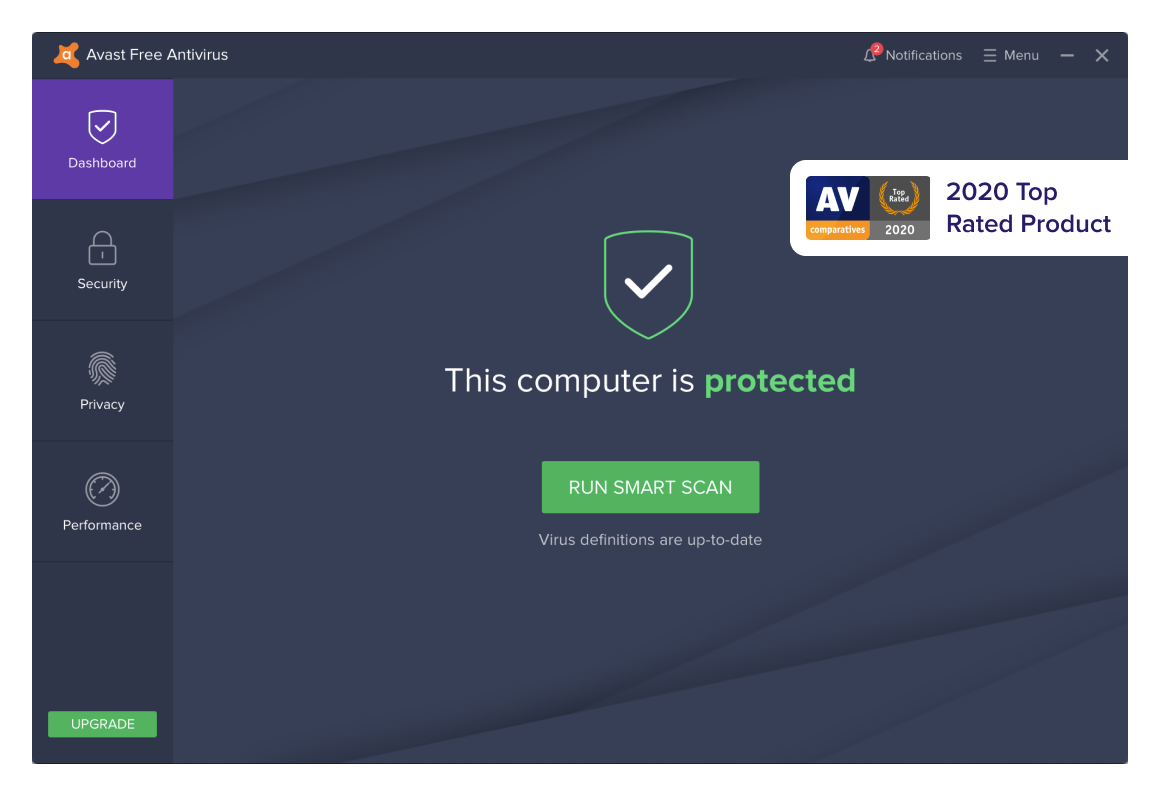 Cloud-light, award-winning free virus protection