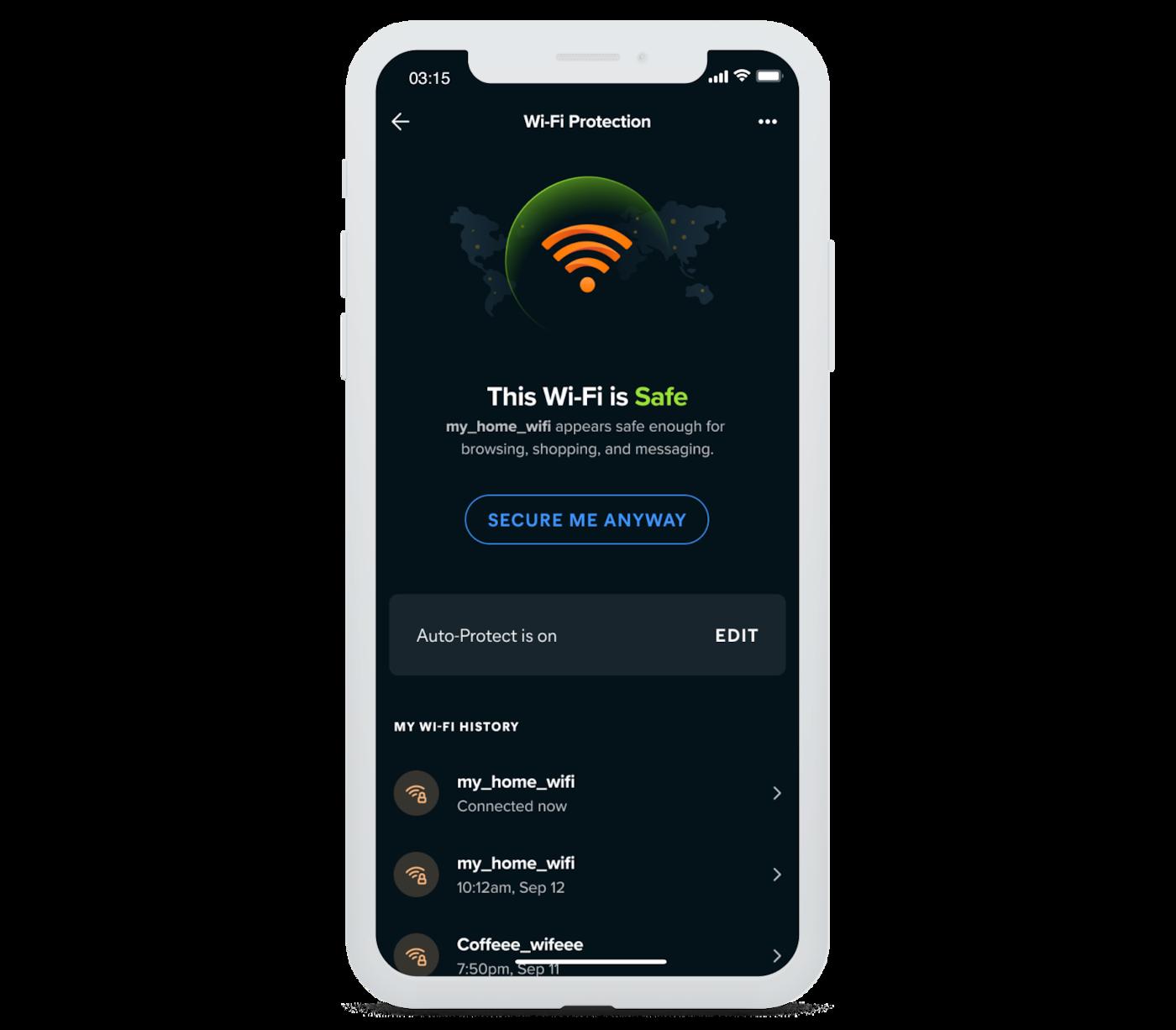 Wi-Fi の安全性を簡単に確認