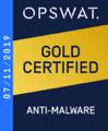 2019 年:認定<br/>アンチマルウェア セキュリティ