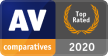 2020: «Top Rated» av <br />AV-Comparatives