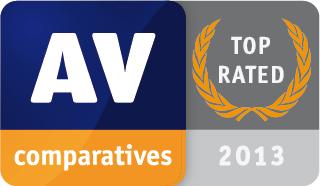 AV-Comparatives - Prodotto Top Rated 2013