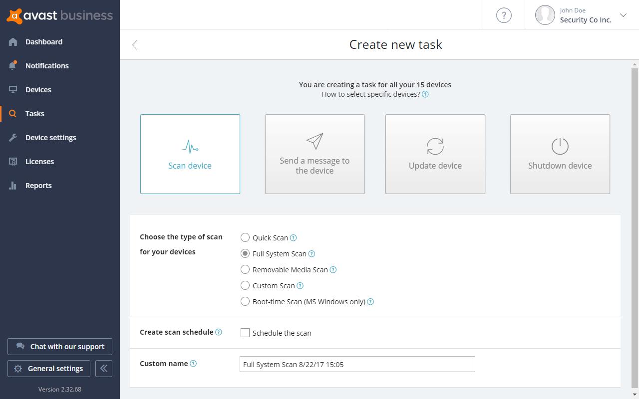 작업을 예약하여 원하는 시간에 검사 및 업데이트를 수행할 수 있게 설정합니다.
