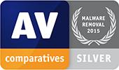 AV-Comparatives — usuwanie złośliwego oprogramowania (2015) — SREBRO