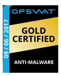 OPSWAT. Награда «Самая высококачественная защита от вредоносных программ для малого и среднего бизнеса»