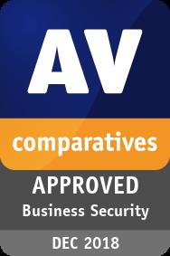 AV-Comparatives. Награда «Одобренный продукт для бизнеса 2018г.»