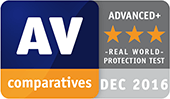 Teste de proteção em cenário real AV-Comparatives - Advanced+