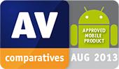 AV-Comparatives — wyróżnienie produktu na urządzenia mobilne: Approved Mobile Product 2013