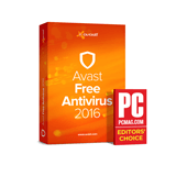 Avast 2016 PC Magazine Editor's Choice Award