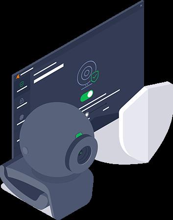 Lá chắn Webcam Avast