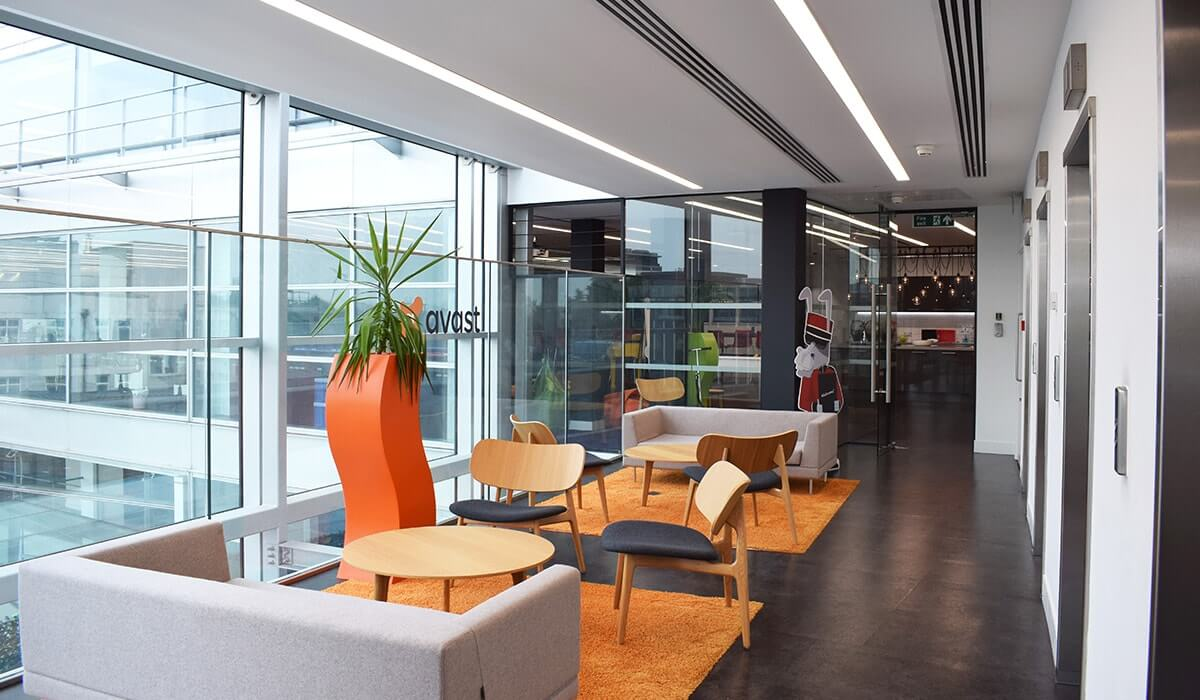 London lounge area