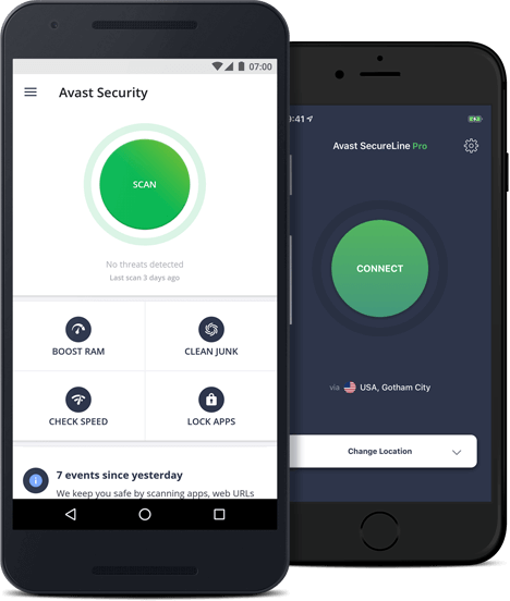 Захист мобільних пристроїв від Avast