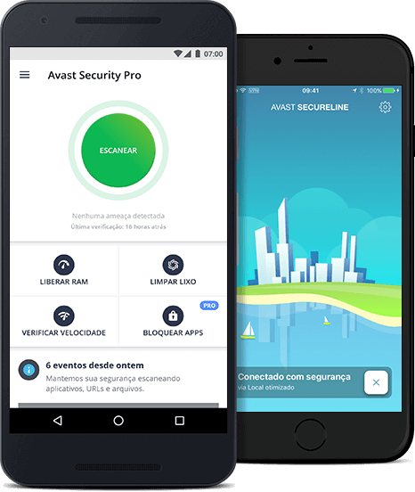 Proteção do Avast para dispositivos móveis