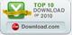 CNET- перелік програм з найбільшою кількістю завантажень у 2010 р.
