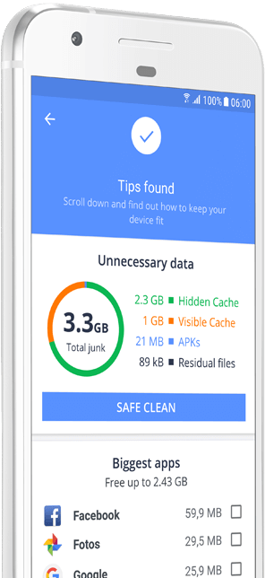 Знімок екрана програми Cleanup