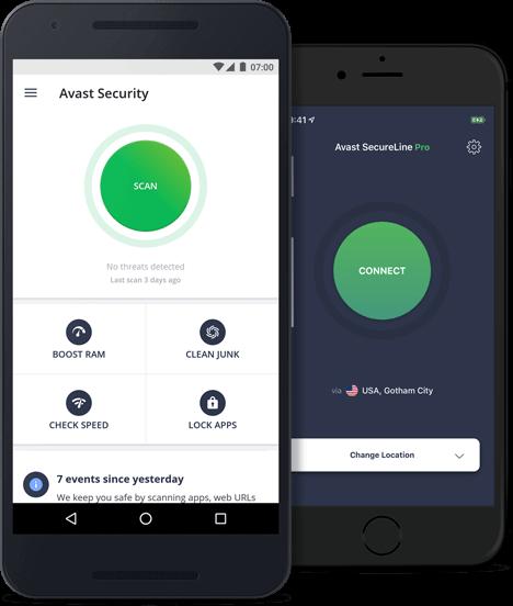 ההגנה של Avast למכשירים ניידים